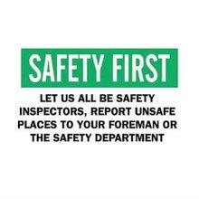 Brady 69333, muestra de los lemas de la seguridad