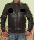 A2 flight leather jacket in brown