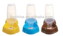 Easily install plastic adjustable height dog water feeder