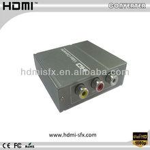 1080P Stereo Audio Composite Video to HDMI Converter Scaler 720P/1080P