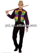 Unisex Mardi Gras Fashion Sequin Bright Vest