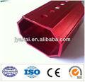 tubo de aluminio rojo octagonal