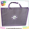 Chequered With Purple Non Woven Handling Bag