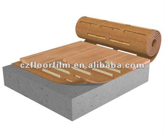 silent cork roll underlayment for flooring