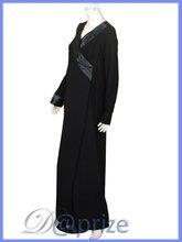 Double-front flap abaya