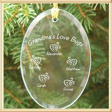 Glass 75*75*3mm Size Fashion Christmas Ornament