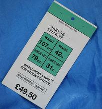 hanging price tags