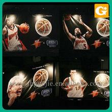 Basketball Knitting Fabric Flag, Fabric Printing Sports Banner