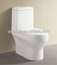 One piece siphon flushing toilet fitting parts 128
