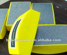 Resin bond diamond dry hand polishing pads