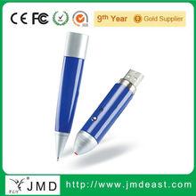 Laser OEM hot selling pen shaped usb flash drive usb disk