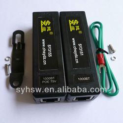 SY3138 RJ45 Overvoltage Surge Protector, Network Ethernet POE Surge Protection