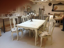 Dining table with chairs - solid wood