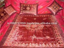 Design Silk Cushion Cover & Bed sheet