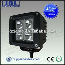 Hot! 20w cree 5w/pcs led bulb super waterproof led driving light led car working lights