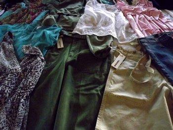 Cream grade used clothing
