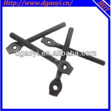 High quality standard baking black zinc plated special eye screw