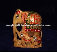 Wooden elephant sculpture - Animal sculpture-Wedding gift - home decor