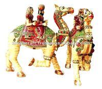 Wooden decorative art & gift - painted camel sculpture - home decor - wedding decoration & gift
