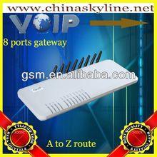 4 / 8 / 16 ports goip gsm gateway voip de terminación de negocios de voip de teléfono de escritorio gsm