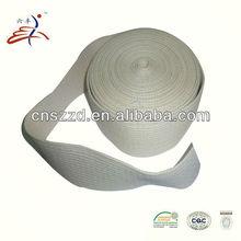 6.8cm raw white cotton woven belt