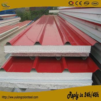 high density of steel sheet styrofoam sandwich wall panel