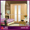 W974-49 dormitorio moderno de madera armario correderas ferrocarril