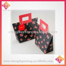 Fancy black rose paper gift bag