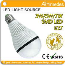 2 years warranty,CE-EMC/LVD e27 5w LED bulb in zhongshan factory