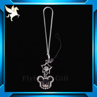 mass supply cell phone key chain with charm