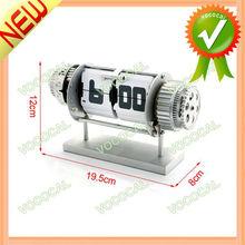 Auto Flip Stand Antique Clock w/ Light Alarm Clock Function
