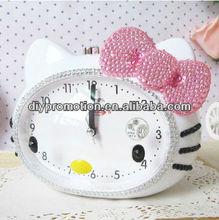 High quality plastic voice alarm clock kitty clock