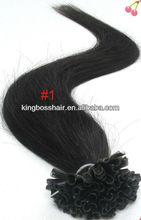 Mano atada a la italia de la fusión de pegamento extensiones de cabello lacio utip uñas de pre- en condiciones de servidumbre productos para el cabello