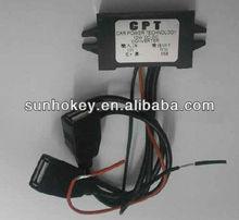 /dc convertisseur dc 12v à 5v 3a double régulateur de tension de puissance de voiture usb pour step down