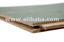 Impregnated fibreboard