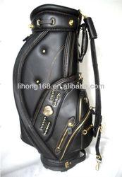 Hot selling top quality oem PU leather golf bag