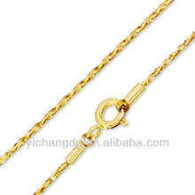 Stainless Steel Glitter Cable Chain Necklace