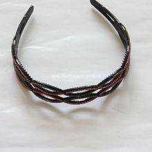 fancy hollow plastic hairband with rhinestone headband fashion hair accessories