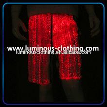 luminous fiber optic fabric mens disco pants
