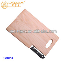 high quality rubber wood cutting board and cutting knife