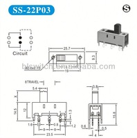 8 pin slide switches for computer, MP3,MP4,MP5,video,IPADS, Audio etc.