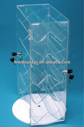 Rotating Revolving Clear Acrylic Locking Jewelry Display Case (DS-A-306)