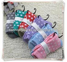 new !polka dot design cotton terry socks wholesale price hot selling popular socks woman small MOQ can retail