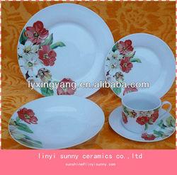 Pretty Pattern tableware sets porcelain,porcelain dinnerware set wholesale,cheap ceramic dinnerware set
