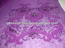 de la mano de seda bordado de tela