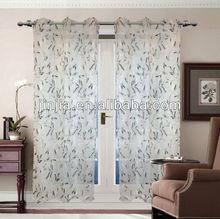 leaf design style print curtain fabric for 2014 inter textile fair