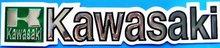 """KAWASAKI"" Soft aluminum Foil decals/stickers Motorcycle Motocross"