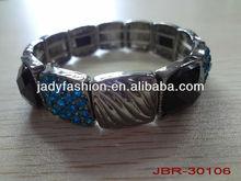 Shiny Blue Diamond Bracelet,Oxidised Alloy Bracelet,Black Acrylic Bracelet
