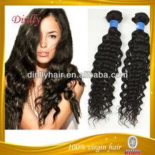 2014 new products hot sell hair 5a grade cheap 100% indian virgin hair curly hair deep wave