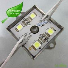 5050 SMD 4 LED Module Pure White/Warm White Waterproof Light Boat Lamp DC 12V